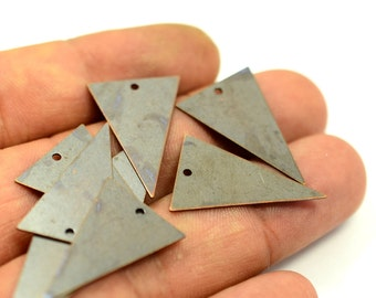 20 Pieces Antique Copper 17x25 mm Triangular 1 Hole Findings