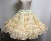 Vintage Butter Yellow Crinoline Petticoat