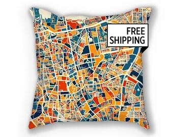 Jakarta Map Pillow - Indonesia Map Pillow 18x18