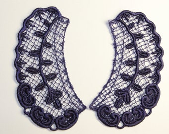 Lace Collar in DARK BLUE for 18 inch dolls such as American Girl #CR05