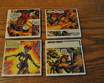 Comic Coasters - Recycled Comic Book Coasters from real comic books