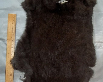 "Genuine Real Natural Rabbit Skin/Pelt/Hide/Fur #2 - Taxidermy, Leathercrafters ,Crafts, Rendezvous, Tanned, ""NEW"""