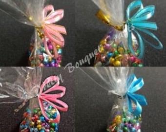 Pre-Tied Ribbon Bow for cello bag| Ribbon Bow Twist Ties|Pink Satin Bow Twist Ties|Blue Satin Twist Ties|Twist Ties for Baby Shower Party