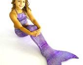 Mermaid Tail for Swimming! With Monofin & Bikini Top!