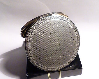 Vintage compact mirrors UNUSED BOXED silver plated Stratton compact NOS bridesmaids gifts