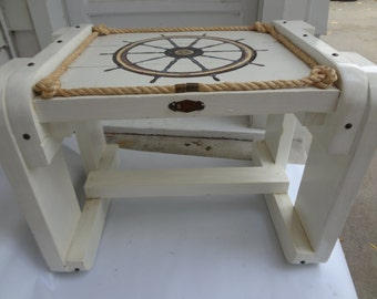 Ship's wheel table, nautical table, marine table, sailing table, marine decor, nautical decor
