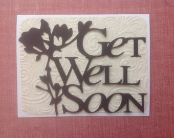 Simply Silhouettes-Make It Yourself-Greeting Card Toppers-Get Well Soon - Quick, Easy, Cheap