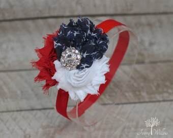 Independence Day Headband - 4th of July Headband - Fourth of July - Red White and Blue Headband - Baby Headband - Adult Headband - America