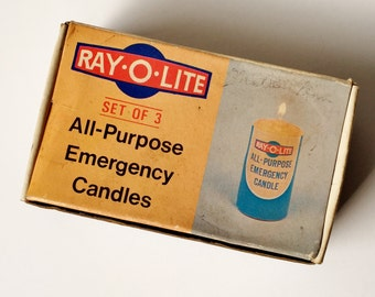 Ray-O-Lite Emergency Candles - All Purpose, Set of Three, Made in Hong Kong, 1960s Collectible