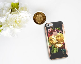 Platinum Edition Vintage Floristry with Rose Gold Detailing Hybrid Hard Case Otterbox Symmetry iPhone 6 / iPhone 7 / Galaxy S7 / S7 Edge