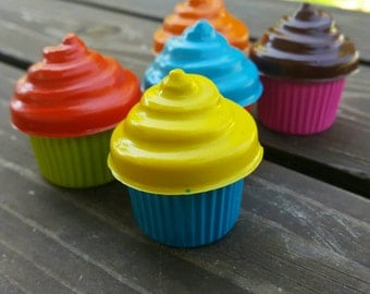 Cupcake crayons set of 10 - party favors