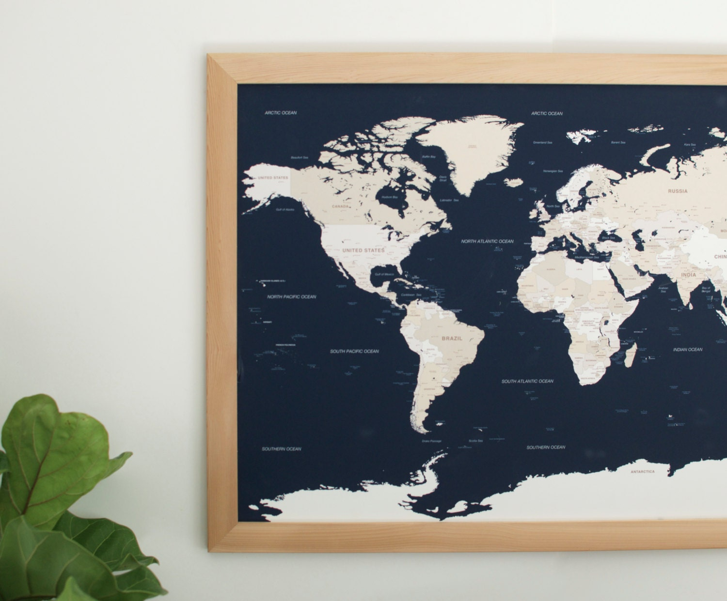 Push Pin Travel Map World Map Framed World Map World by Wayfaren – Push Pin Travel Maps