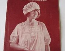 Flapper Vintage 1920s Crochet Lace Pattern Book Sweaters Yokes Boudoir Caps