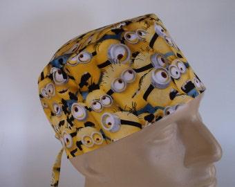 Million Minions Men's Surgical Scrub Hat  with sweatband option - scrub cap, bakers hat,113+7330