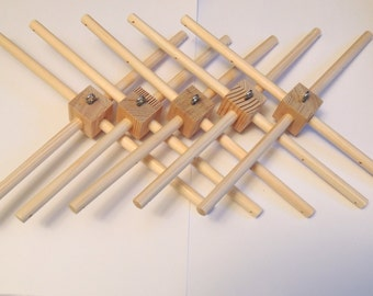 Wooden Baby Mobile Hanger set of 5 Mobile Frames