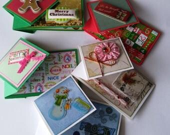 Handmade Flip Fold Gift Card Holders (Set of 5)
