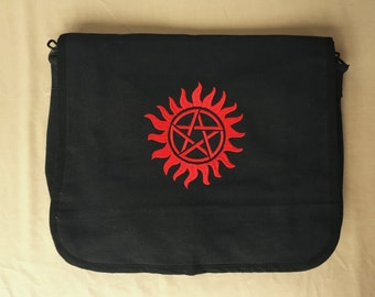 Supernatural Embroidered Messenger Bag