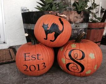 Pumpkin Decals - Fall Decals - Fall Decor - Halloween Decals - Holiday Decals - Halloween Decor - Halloween - Thanksgiving Decals