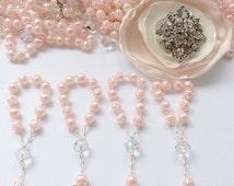 10%off weekend sale 90 pcs Angel Pearl Decade Rosaries, Mini Rosaries, First communion favors Recuerditos Bautizo 90pz/ Mini Pearl Rosary Ba