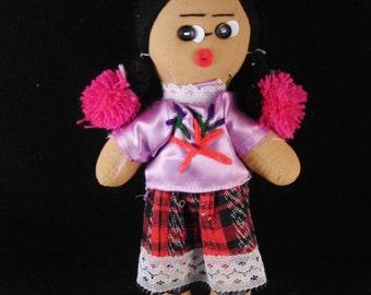 Vintage bambola ballerina di flamenco spagnolo in abito rosa - Costume da bagno in spagnolo ...