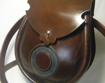 Handmade Brown Moon Leather Earn Sporran