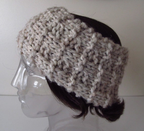 Knitting Pattern Ski Headband : Unisex Knit Headband Ski Band Ear Warmer Men Women