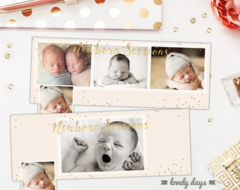 Set of Two Facebook Timeline Template Design Covers INSTANT DOWNLOAD