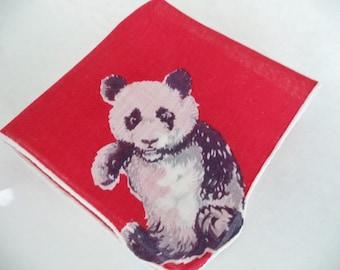Child's Red Panda Handkerchief