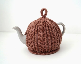 Knitted Tea Cosy Almond Brown - IMBER