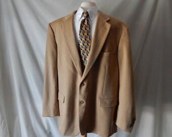 Sz 48 L Camel Hair Sport Jacket Blazer - Big & Tall 48L