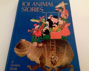 101 Animal Stories Illustrated by Benvenuti  - Golden Press - 1972