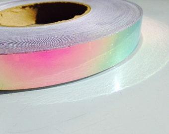 "15 ft. roll of 3/4"" Watermelon Haze Metallic Hula Hoop Tape"