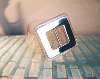 Clear Mod Belt Belt Mirror Belt Buckle Wide - One Size