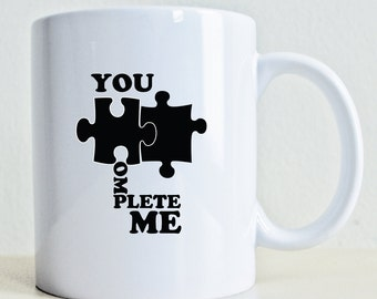 You Complete Me Gift Mug | Puzzle Pieces Mug | Best Friend Gift Mug | Girlfriend Gift Mug | Boyfriend Gift Mug | Husband Gift |