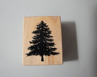 Pine Fir Tree Rubber Stamp PSX 1999 Christmas Tree