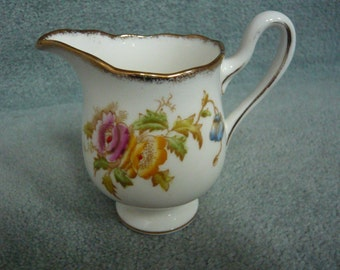 Royal Albert Bone China Creamer Anemone Pattern Circa 1940s