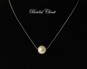 Bridal Necklace, Floating Pearl Pendants, Bridal Accessories, Wedding Jewelry, Bridal Pearl Necklace, Wedding Jewelry, Wedding Necklace
