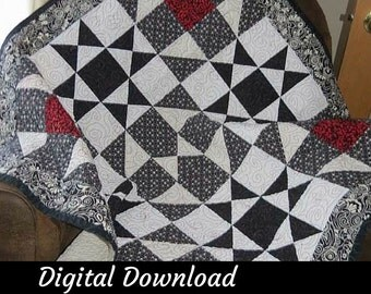 Quilting Pattern, Quilted Wall Hanging Pattern, Skill Builder Pattern, Easy Quilt Pattern, Beginner Quilting Pattern