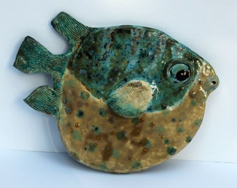 Blowfish VII _ Ceramic Fish Wall Decor