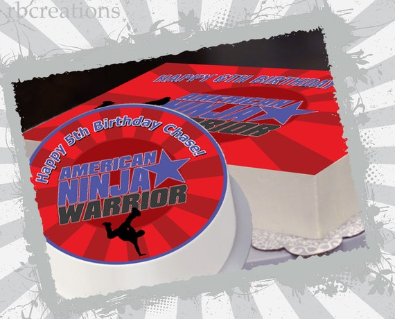 Edible Cake Topper For American Ninja Warrior Birthday
