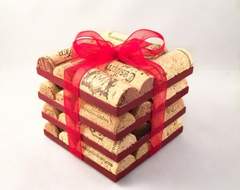 Red Wine Cork Coasters - Set of 4