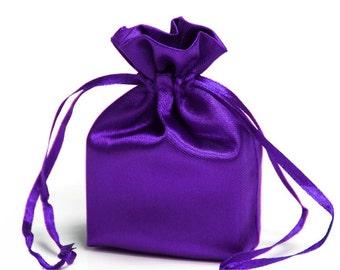 Large Purple Satin Gift Bag