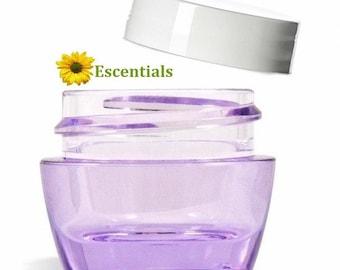 Purple Lip Balm Jar with White Smooth Cap - 10 Pack