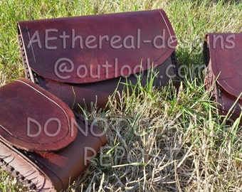 Jedi Pouches Set of 3 100% Veg Tanned Leather