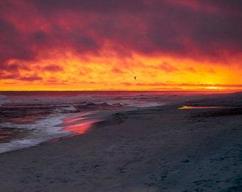 Beach Sunset - Beach Decor - Sunset Photography - Ocean Photography