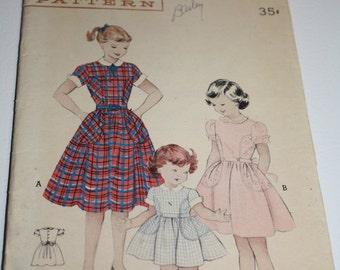 Butterick Vintage Pattern 6210 Child's Dress 1956