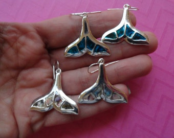 Abalone whale tail  earrings