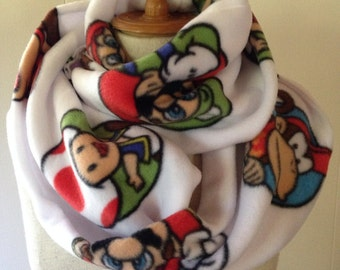 Super Mario Fleece Infinity Scarf Neck Warmer