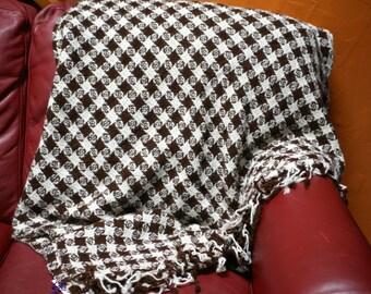 Handwoven Blanket 100% Homegrown Alpaca