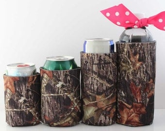 Camo CAN CUDDLER ®& free KOOZIE ® with purchase-Select Can, Slim Can, Water Bottle, 8 oz, Beer Holder Size- Can Coolers
